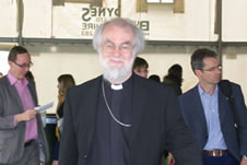 AN Wilson, Rowan Williams and Tim Livesey