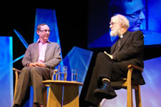AN Wilson talks to Rowan Williams on the Guardian Stage
