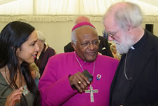 Dee Hardwicke, Archbishop Desmond Tutu and Archbishop Rowan Williams