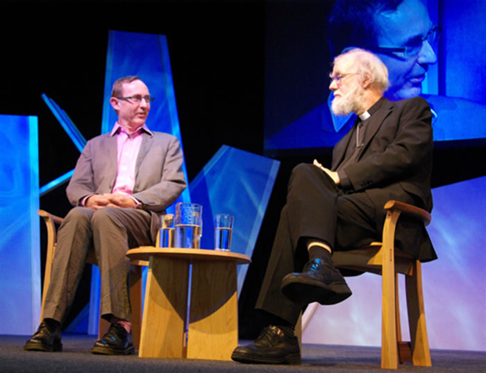 AN Wilson and Rowan Williams on the Guardian Stage
