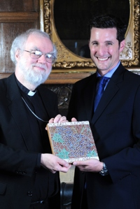2013 Prize winner Luke Bretherton with Rowan Williams